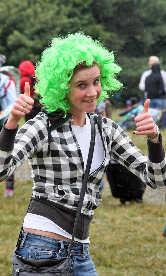 08/07/'10 Clare Power, from Ballincollig, Cork pictured arriving at Punchestown, Co. Kildare this evening for the start of the Oxegen Festival 2010...Picture Colin Keegan, Collins, Dublin
