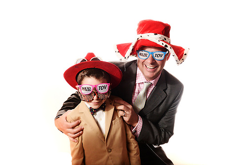 An artistic, fun photo booth at a Tamarack Country Club Bar Mitzvah