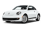 Stock pictures of low aggressive front three quarter view of 2016 Volkswagen Beetle 1.8T-S-Auto-PZEV 3 Door Hatchback Low Aggressive