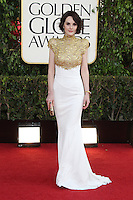 BEVERLY HILLS, CA - JANUARY 13: Michelle Dockery at the 70th Annual Golden Globe Awards at the Beverly Hills Hilton Hotel in Beverly Hills, California. January 13, 2013. Credit: mpi29/MediaPunch Inc. /NortePhoto
