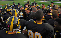 The Madison Mustangs win the first game of the playoffs 59-0 versus the Fond du Lac Crusaders on Saturday, August 16, 2008 at Middleton High School's Breitenbach Stadium in Middleton, Wisconsin