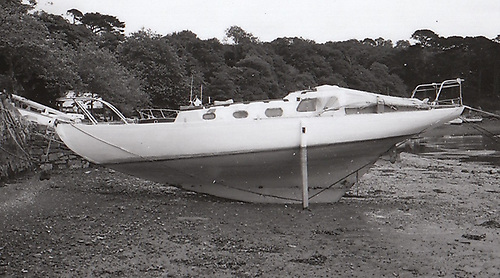 Jap in 1994, out of commission with her rudder missing