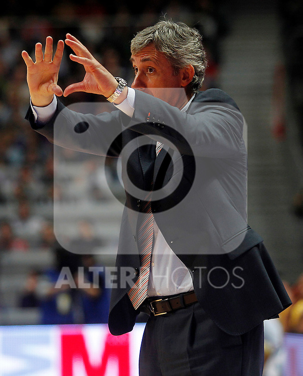 Power Electronics Valencia's coach Svetislav Pesic during Spanish Basketball King's Cup match.February 10,2011. (ALTERPHOTOS/Acero)