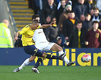 Kemar Roofe of Oxford United scores his sides second goal   during the Emirates FA Cup 3rd Round between Oxford United v Swansea     played at Kassam Stadium  on 10th January 2016 in Oxford