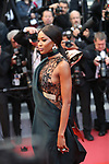 "Cannes Film Festival 2018 - 71st edition - Day 7 - May 14 in Cannes, on May 14, 2018; Screening of the film ""BlacKkKlansman"";   British model Naomi Campbell. © Pierre Teyssot / Maxppp"