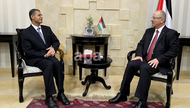 Palestinian Prime Minister, meets with Egyptian Ambassador to Palestine Sami Murad, in the West Bank city of Ramallah, on December 028, 2017. Photo by Prime Minister Office