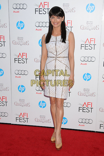 """Alex Lombard.AFI FEST 2012 """"Rise of the Guardians"""" Gala Screening held at Grauman's Chinese Theatre, Hollywood, California, USA..November 4th, 2012.full length white grey gray dress lace sleeveless .CAP/ADM/BP.©Byron Purvis/AdMedia/Capital Pictures."""
