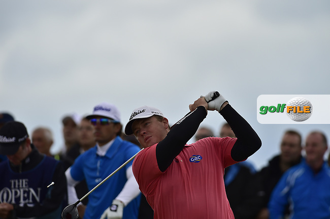 George Coetzee (RSA) tees off the 13th tee during Friday's Round 2 of the 144th Open Championship, St Andrews Old Course, St Andrews, Fife, Scotland. 17/07/2015.<br /> Picture Eoin Clarke, www.golffile.ie