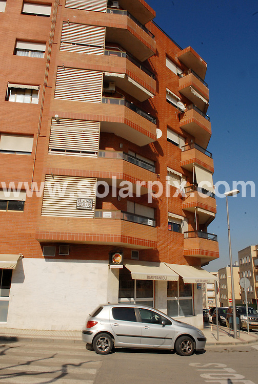 **ALL ROUND EXCLUSIVE PICTURES FROM SOLARPIX.COM**.**WORLDWIDE SYNDICATION RIGHTS**.Two Pakistanis and Romanian woman were arrested after father pays £100k ransom for kidnap boy Sahil Saeed in Spain. They were held by police at an address in Tarragona, 60 miles south of Barcelona, Spain. 17 March 2010.FULL STORY BY TOM WORDEN +34 680 152 448..This pic: the apartment building where the 3 were arrested by police, in the town of Constanti, just outside of Tarragona..JOB REF: 10910 NSP       DATE: 17_03_2010.**MUST CREDIT SOLARPIX.COM OR DOUBLE FEE WILL BE CHARGED**.**MUST AGREE FEE BEFORE ONLINE USAGE**.**CALL US ON: +34 952 811 768 or LOW RATE FROM UK 0844 617 7637**