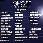 Cast Board.during the Broadway Opening Night Performance Curtain Call for  'GHOST' a the Lunt-Fontanne Theater on 4/23/2012 in New York City.