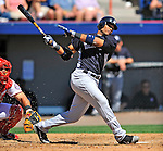 12 March 2011: New York Yankees' second baseman Robinson Cano in action during a Spring Training game against the Washington Nationals at Space Coast Stadium in Viera, Florida. The Nationals edged out the Yankees 6-5 in Grapefruit League action. Mandatory Credit: Ed Wolfstein Photo