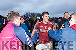 Dromids Graham O'Sullivan celebrates as the final whistle is blown at the South Kerry Senior Football Championship in Ballinskelligs on Saturday.