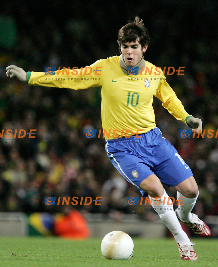 Brazil's Kaka during a friendly match at Emirates Stadium in London, Tuesday February 06, 2007. (INSIDE/ALTERPHOTOS/Alvaro Hernandez).
