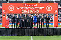 CARSON, CA - FEBRUARY 9: Carli Lloyd #10 of the United States accepts the CONCACAF FairPlay award during a game between Canada and USWNT at Dignity Health Sports Park on February 9, 2020 in Carson, California.