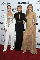 BROOKLYN, NY - NOVEMBER 13: Bella Hadid, Yolanda Hadid and Gigi Hadid  at Glamour's 2017 Women Of The Year Awards at the Kings Theater in Brooklyn, New York City on November 13, 2017. <br /> CAP/MPI/JP<br /> &copy;JP/MPI/Capital Pictures
