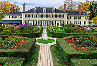 Hildene mansion and formal garden, Manchester, Vermont, USA.