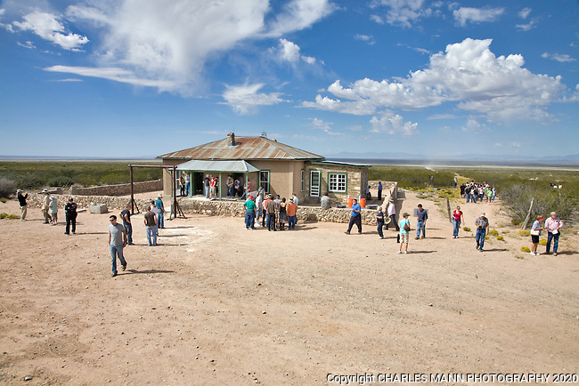 The TrinityTest Site, where the first atomic bomb was exploded on July 16, 1945, is open to the public on the first Saturday of April and October. The MacDonald Farmhouse, where the bomb was assembled, is part of the Trinity Site open house.