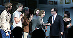 "Michael Cera, Lucas Hedges, David Cromer, Joan Allen, Elaine May, Kenneth Lonergan and Lila Neugebauer during the Opening Night Curtain Call bows for ""The Waverly Gallery"" at the Golden Theatre on October 25, 2018 in New York City."