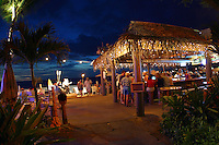 Live music plays on at Huggo's on the Rocks, one of Kona's waterfront hot spots.  Hawaii.<br />
