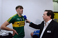 17-1-2017: David Clifford is interviewed by Marty Morrissey after  the All-Ireland Football final at Croke Park on Sunday.<br /> Photo: Don MacMonagle