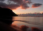 Teresitas man made beach at dawn, Tenerife, Canary Islands, Spain