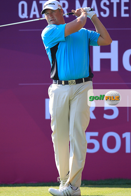 Dawie Van Der Walt (RSA) tees off the 10th tee during Thursday's Round 2 of the 2015 Commercial Bank Qatar Masters held at Doha Golf Club, Doha, Qatar.: Picture Eoin Clarke, www.golffile.ie: 1/22/2015