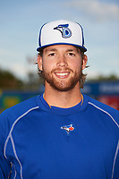 Dunedin Blue Jays pitcher T.J. Zeuch (35) poses for a photo before a game against the St. Lucie Mets on April 19, 2017 at Florida Auto Exchange Stadium in Dunedin, Florida.  Dunedin defeated St. Lucie 9-1.  (Mike Janes/Four Seam Images)