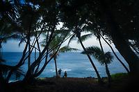 Visitors viewing the Puna coast. Hawaii