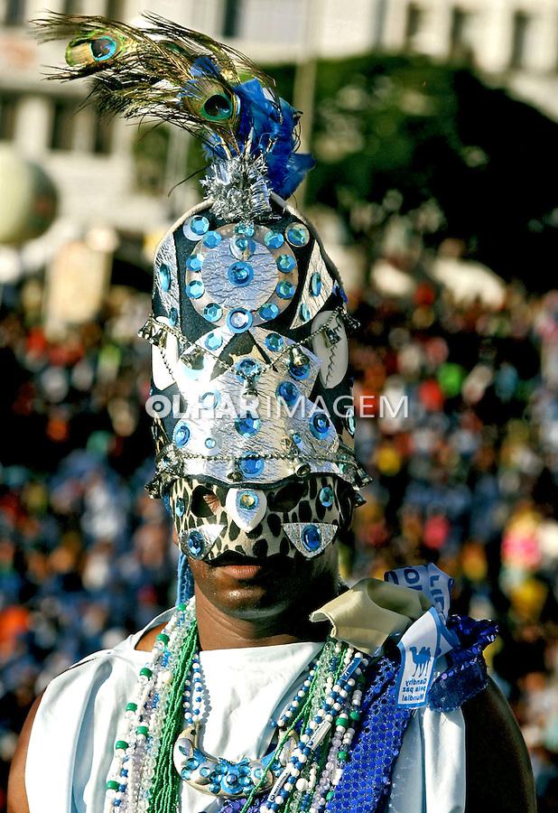 Desfile do bloco Filhdos de Gandhi no carnaval de Salvador. Bahia. 2006. Foto de Caetano Barreira.