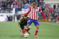 Atletico de Madrid´s Miranda (R) and Milan´s Kaka during 16th Champions League soccer match at Vicente Calderon stadium in Madrid, Spain. January 06, 2014. (ALTERPHOTOS/Victor Blanco)