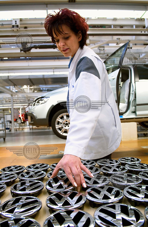Production of a Volkswagen (VW) Golf at the Wolfsburg car plant.