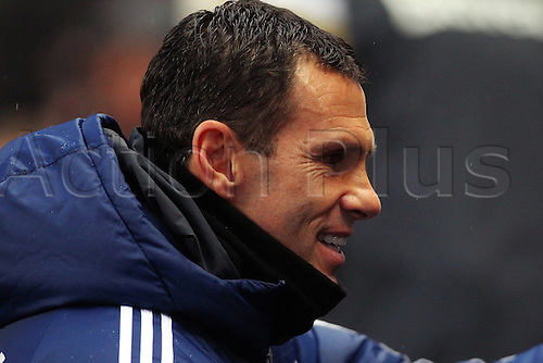01.01.2015.  Manchester, England. Barclays Premier League. Manchester City versus Sunderland. Sunderland manager Gus Poyet