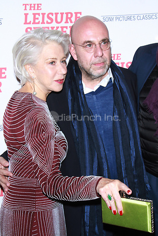 NEW YORK, NY January 11, 2018:Helen Mirren, Paolo Virzi attend Sony Pictures Classics  present screening of The Leisure Seeker  at AMC Loews Lincoln Square  in New York City.January  11, 2018. Credit:RW/MediaPunch