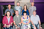 Jason Carey, Spa Road Tralee and  Ann Mary Harrington, London celebrate their Engagement with family and friends at the Greyhound bar on Saturday Pictured  front l-r Moira O'Donnell, Jason Carey, Ann Mary Harrington, Marion Downey and Rob Mason 0857853969
