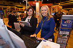 Skills Active Cymru<br /> Student Tasha Smith from Stanmore School with<br /> Gaynor Griffiths from RLP. <br /> Cardiff International Arena<br /> 23.10.14<br /> &copy;Steve Pope-FOTOWALES