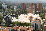 Colombia drug lord Pablo Escobar's building demolished in Medellin