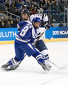 Scott Kozlak (Air Force - 8), Jimmy Martin (Yale - 2) - The Yale University Bulldogs defeated the Air Force Academy Falcons 2-1 (OT) in their East Regional Semi-Final matchup on Friday, March 25, 2011, at Webster Bank Arena at Harbor Yard in Bridgeport, Connecticut.