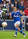 Duitsland, Gelsenkirchen, 22 september  2012.Seizoen 2012/2013.Bundesliga.Schalke 04-Bayern Munchen 0-2.Ibarhim Afellay van Schalke 04 in actie met de bal..