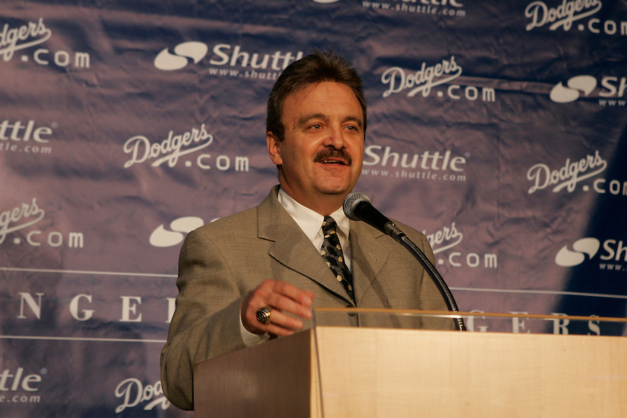 Los Angeles Dodgers new General Manager Ned Colletti during press conference at Dodger Stadium Wednesday, November 16,2005<br /> &copy; Jon SooHoo