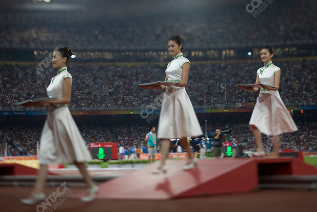 Medal Ceremony, National Stadium, Summer Olympics, Beijing, China, August 17, 2008