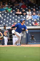 ***Temporary Unedited Reference File***Iowa Cubs third baseman Logan Watkins (8) during a game against the Nashville Sounds on May 4, 2016 at First Tennessee Park in Nashville, Tennessee.  Iowa defeated Nashville 8-4.  (Mike Janes/Four Seam Images)