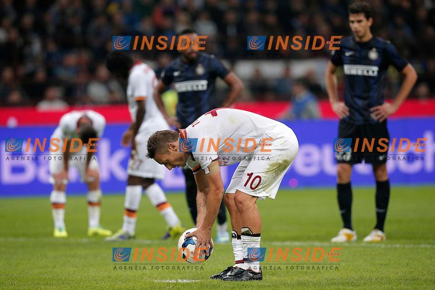 Francesco Totti Roma,<br /> Milano 05-10-2013<br /> Stadio Giuseppe Meazza <br /> Football Calcio 2013/2014 Serie A <br /> Inter - Roma<br /> Foto Marco Bertorello Insidefoto