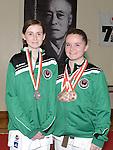 Medal winners Keeva Byrne and Cydney Sheridan. Photo:Colin Bell/pressphotos.ie