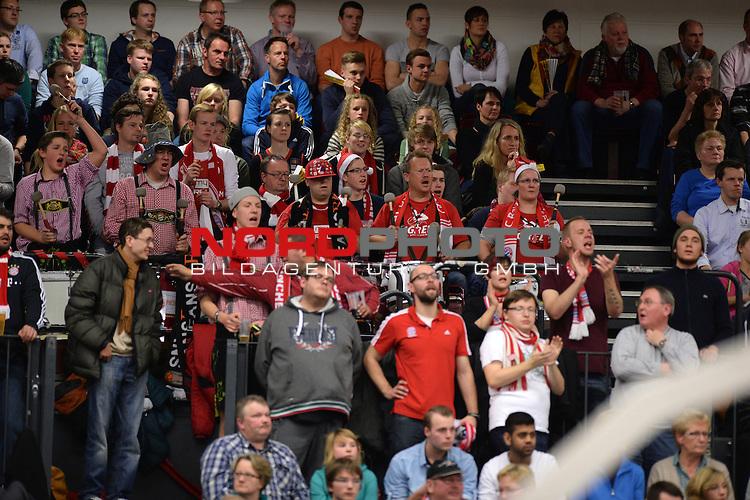 07.12.2013, Artland Arena, Quakenbrueck, GER, BEKO BBL, Artland Dragons vs Bayern Muenchen,   im Bild<br /> <br /> nur normale Bayern-Fans in Quakenbr&uuml;ck, <br /> <br /> <br /> Foto &copy; nordphoto / Kamper