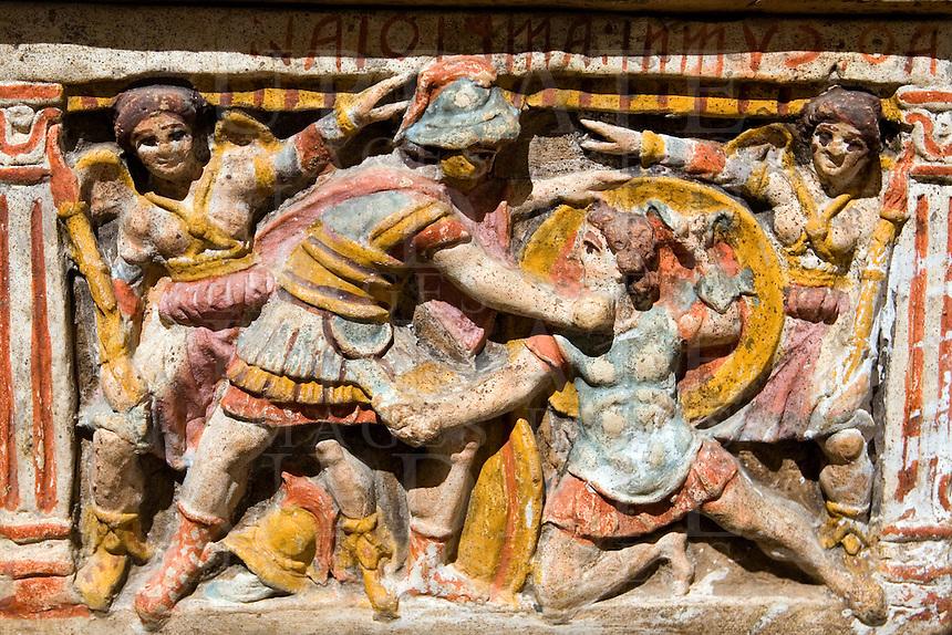 Urne al Museo Etrusco di Chiusi<br /> Urns at the Etruscan Museum of Chiusi.<br /> UPDATE IMAGES PRESS/Riccardo De Luca
