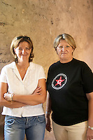 Sophie Armenier and her sister Catherine Armenier Domaine de Marcoux, Chateauneuf-du-Pape. Rhone. Owner winemaker. France Europe.