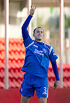Hamilton Accies v St Johnstone..23.10.10  .Danny Grainger celebrates his goal .Picture by Graeme Hart..Copyright Perthshire Picture Agency.Tel: 01738 623350  Mobile: 07990 594431