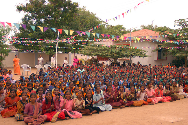A schoolyard in Tamil Nadu, India