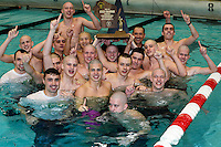Madison Memorial wins the WIAA Division 1 state swimming meet with a team score of 350.5 on Saturday, February 21, 2015 at the UW Natatorium in Madison, Wisconsin