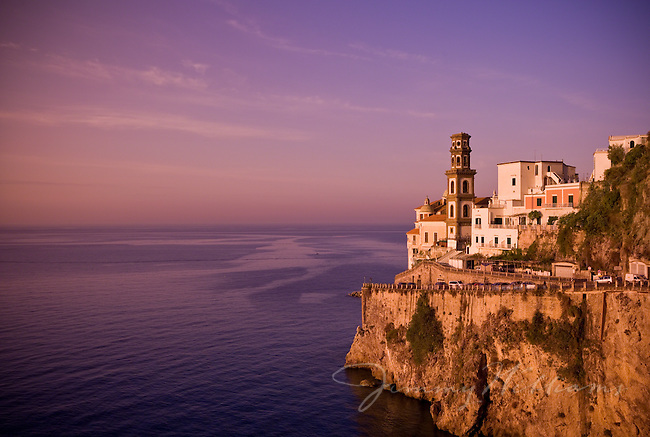 A beautiful scenic view of the Atrani cliffside, Amalfi Coast of Italy